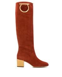 Salvatore Ferragamo Mirror Heel Gancini Boots