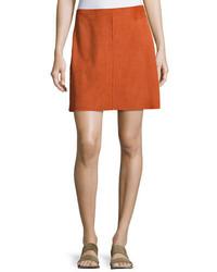 Irenah metises suede mini skirt orange medium 3772402