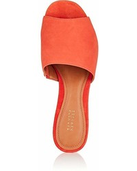 Barneys New York Suede Mules