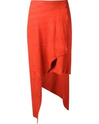 Uma raquel davidowicz suede asymmetric skirt medium 332799