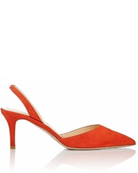 Barneys New York Suede Slingback Pumps