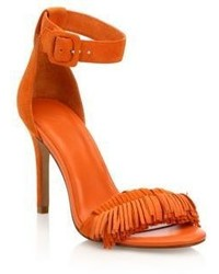 Joie Pippi Fringed Suede Ankle Strap Sandals