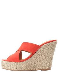 Charlotte Russe Crisscross Mule Wedge Sandals