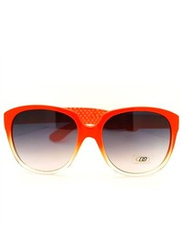 106Shades Dg Eyewear Round Oversized Horn Rim Fashion Sunglasses Orange
