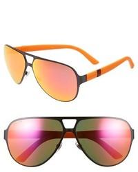 Gucci 62mm Aviator Sunglasses Semi Matte Navy