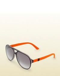 Gucci Aviator Three Layer Acetate Sunglasses