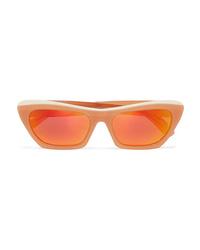 Acne Studios Azalt Embellished Cat Eye Acetate Mirrored Sunglasses