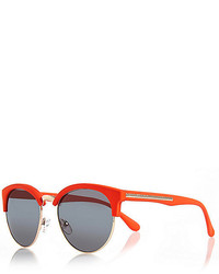 River Island Bright Orange Neon Retro Sunglasses