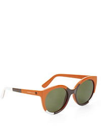 BCBGMAXAZRIA Color Blocked Round Sunglasses