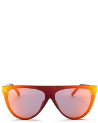 3.1 Phillip Lim Flat Top Mirror Shield Acetate Sunglasses
