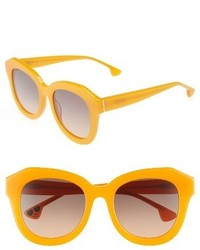 Alice + Olivia Frank 52mm Geometric Sunglasses Orange Crush
