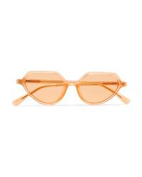 Dries Van Noten Linda Farrow Cat Eye Acetate Sunglasses