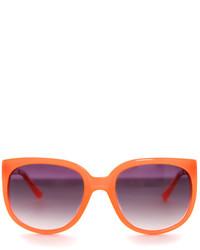 Linda Farrow X Matthew Williamson Neon Orange Cat Eye Sunglasses