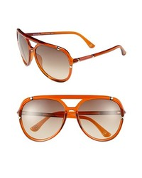 MICHAEL Michael Kors Michl Michl Kors Jemma 60mm Aviator Sunglasses Crystal Orange One Size