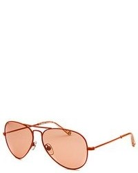 Michael Kors Michl By Michl Kors Rachel Aviator Orange Sunglasses