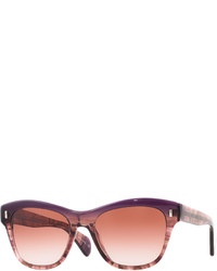 Oliver Peoples Sofee Square Marbled Acetate Sunglasses Faded Figsonoma Gradient