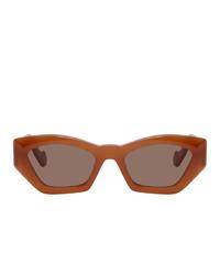Loewe Orange Acetate Butterfly Sunglasses