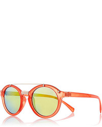 River Island Orange Round Sunglasses
