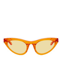 Han Kjobenhavn Orange Transparent Race Sunglasses
