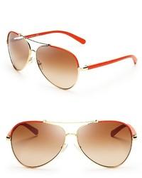 Tory Burch Signature Aviator Sunglasses