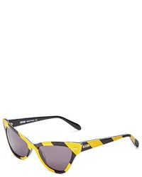 Moschino Striped Cat Eye Sunglasses 53mm