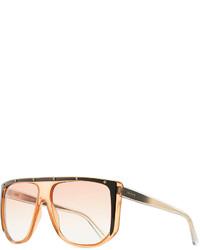 Gucci Studded Plastic Shield Sunglasses Orange