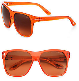 Tom Ford Modified Wayfarer Injected Sunglasses