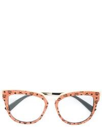 MCM Patterned Round Frame Glasses