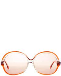 Lanvin Vintage Oversized Round Sunglasses