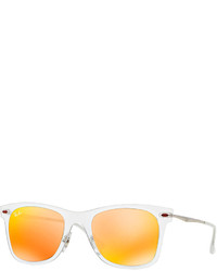 Ray-Ban Wayfarer Mirror Matte Clear Sunglasses Brownorange
