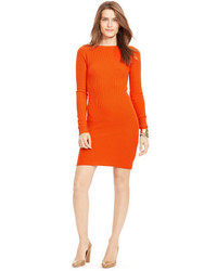 Orange Sweater Dress