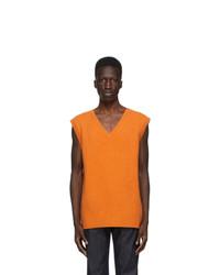The Elder Statesman Orange Heavy Vest