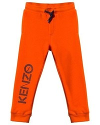 Kenzo Orange Branded Sweatpants