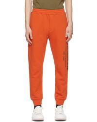 Alexander McQueen Orange Graffiti Lounge Pants