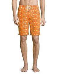 Peter Millar Fly Fishing Swim Trunks Orange