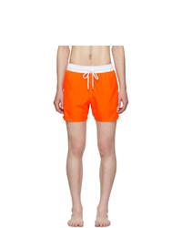 Vilebrequin Orange Bicolor Fluo Moxe Swim Shorts