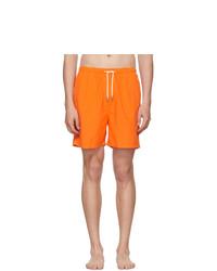 Solid and Striped Orange Classic Swim Shorts