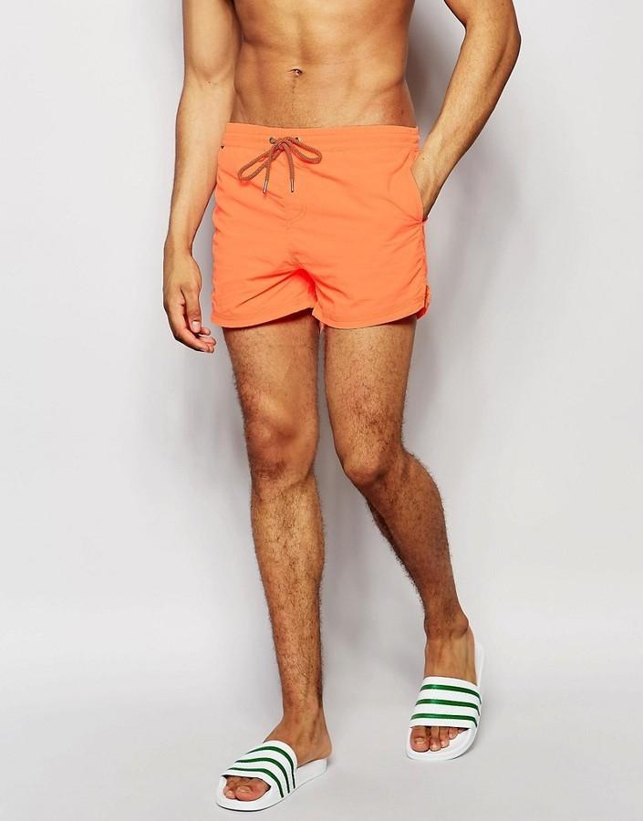 293866d92d Pull&Bear Swim Shorts In Fluorescent Orange, $12 | Asos | Lookastic.com