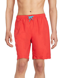 Saks Fifth Avenue RED Solid Swim Trunks