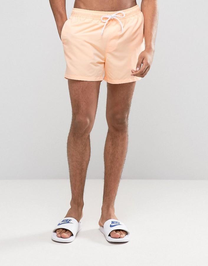 Asos Swim Shorts In Bright Orange Short Length   Where to buy ...