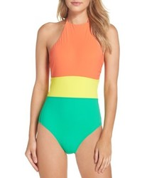 Diane von Furstenberg Halter One Piece Swimsuit