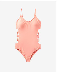 Express Lace Up Side One Piece Swimsuit