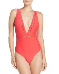 Ted Baker London Plunge One Piece Swimsuit