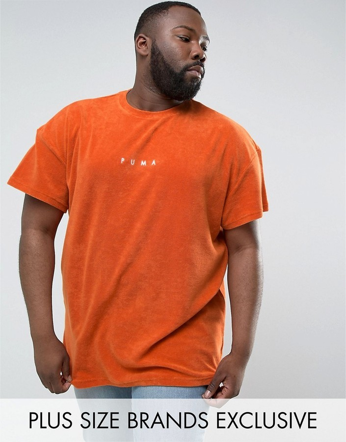 b8ae8bc8bc3 Puma Plus Towelling T Shirt In Orange To Asos 57533303, $21 | Asos ...