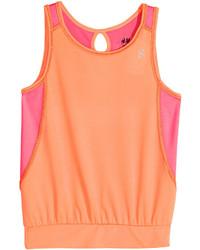 H&M Sports Tank Top Light Orange Kids