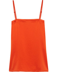 DKNY Georgette Trimmed Satin Camisole Orange