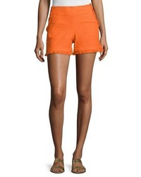 Trina Turk Kleo Textured Ruffle Shorts Caliente