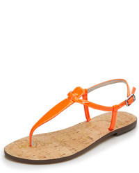 Orange Thong Sandals