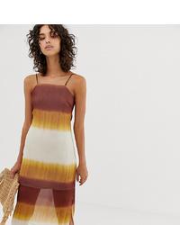 Stradivarius Square Neck Cami Dress In Tie Dye