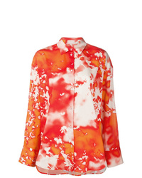 MSGM Tie Dye Print Shirt